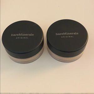 Set of 2 Bare Minerals Fairly Light